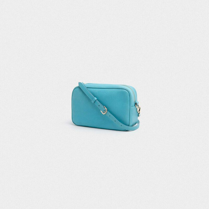 Golden Goose - Turquoise Star Bag made of hammered leather in  image number null