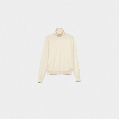 Ajisai turtleneck sweater in extrafine merino wool