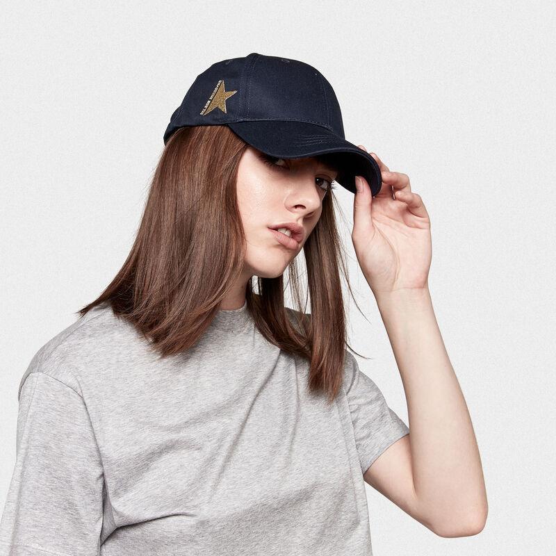 Golden Goose - Cappellino da baseball Aki in drill di cotone in  image number null