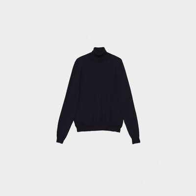Suéter de cuello vuelto Tomio de lana merina extrafina