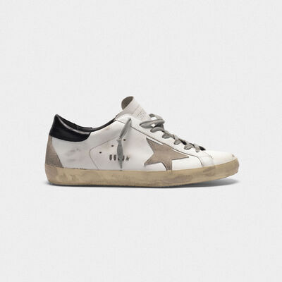 Superstar sneakers in leather with glossy heel tab