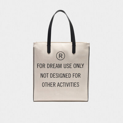 """For dream use only"" North-South California Bag"