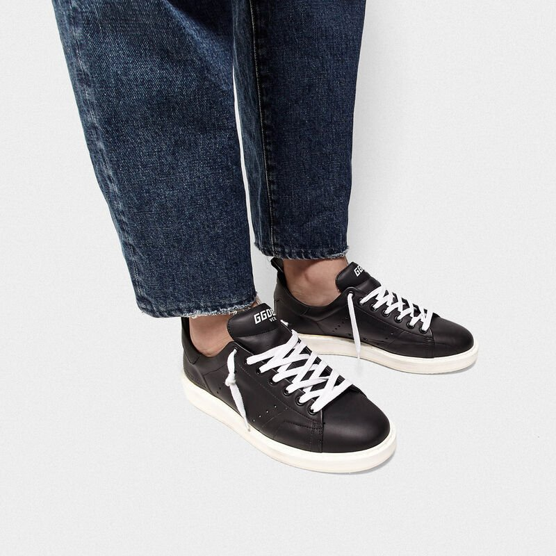 Golden Goose - Starter sneakers in total black leather in  image number null