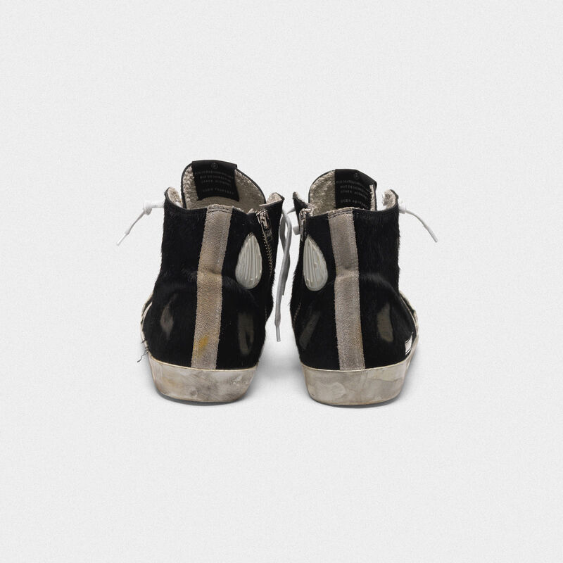Golden Goose - Sneakers Francy in cavallino con stella a contrasto in  image number null