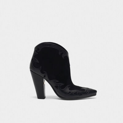 Low black Michelle Flowers ankle boots