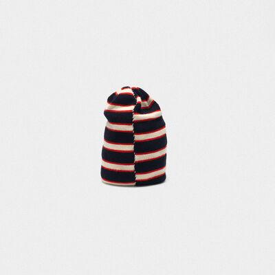 Kyoko wool beanie with stripes