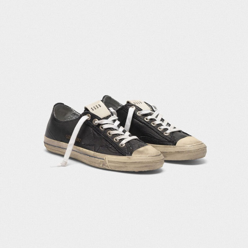 Golden Goose - Sneakers V-STAR in pelle effetto vintage in  image number null