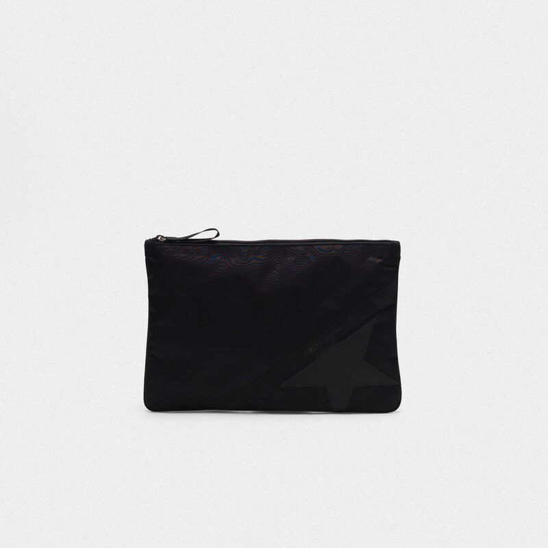 Golden Goose - Pouch Journey large in nylon nero in  image number null