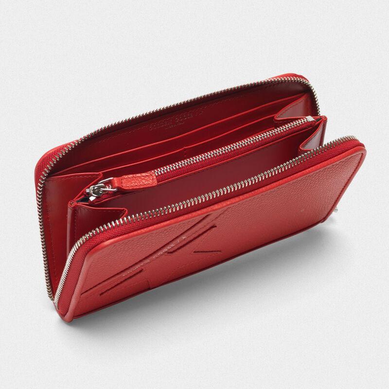 Golden Goose - Portafoglio Star Wallet large rosso   in  image number null