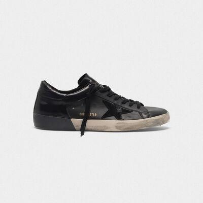 Sneakers Superstar in pelle con retro lucido e foxing raddoppiato
