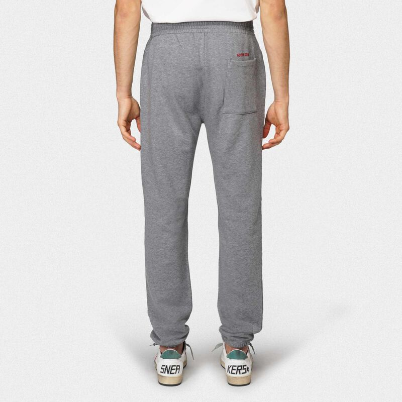 Golden Goose - Grey Hamm joggers with Love embroidery in  image number null