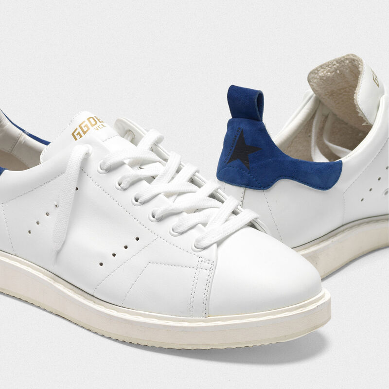 Golden Goose - Sneakers Starter in pelle con talloncino in suede in  image number null