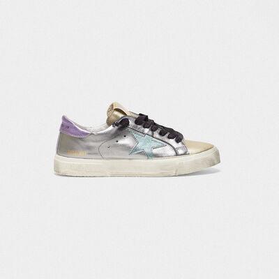 Sneakers May in pelle laminata