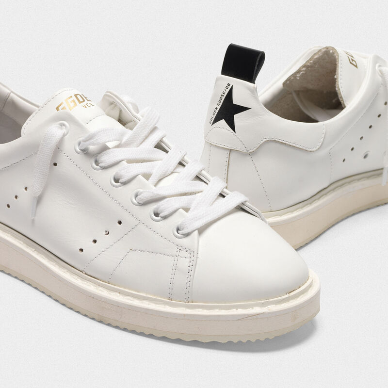 Golden Goose - Starter sneakers in total white leather in  image number null