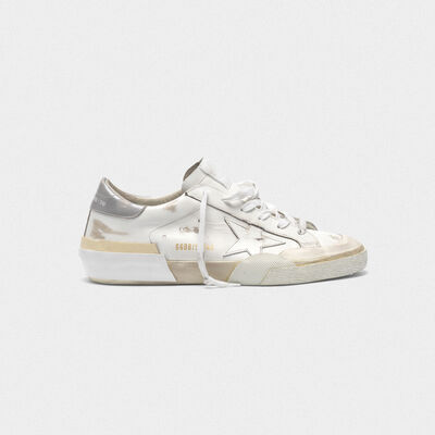 Sneakers Superstar patchwork con tecnica multi-foxing