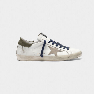 Superstar sneakers with the heel tab in raw edge canvas