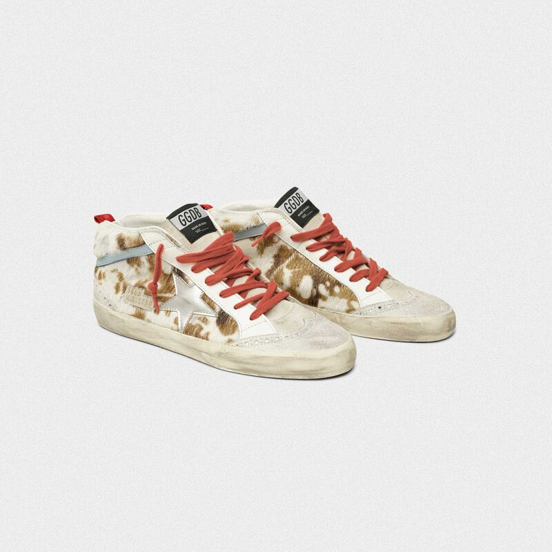 Golden Goose - Sneakers Mid-Star in cavallino stampa muccata in  image number null