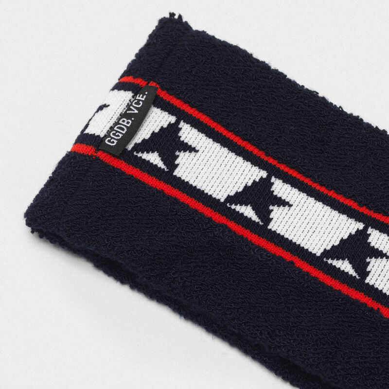 Golden Goose - Noa headband in terry stitch with thread embroidery in  image number null