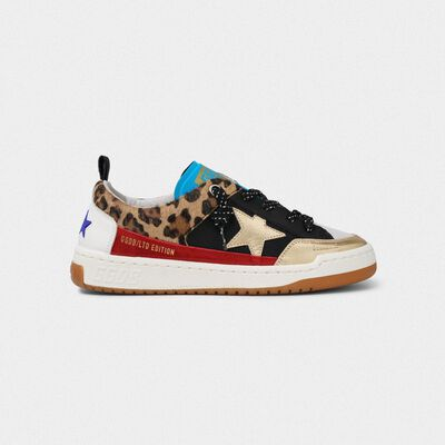 Yeah! sneakers in leopard-print with gold star