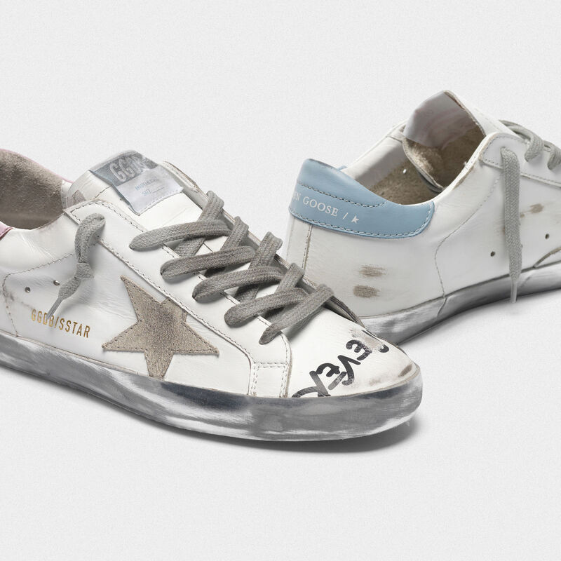 Golden Goose - Superstar sneakers with handwritten lettering and two-tone heel tabs in  image number null