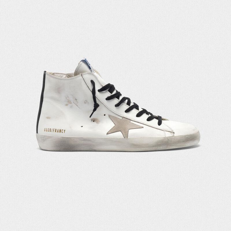 Los Angeles c671c 1b077 Sneakers Francy in pelle con stella in suede e suola blu
