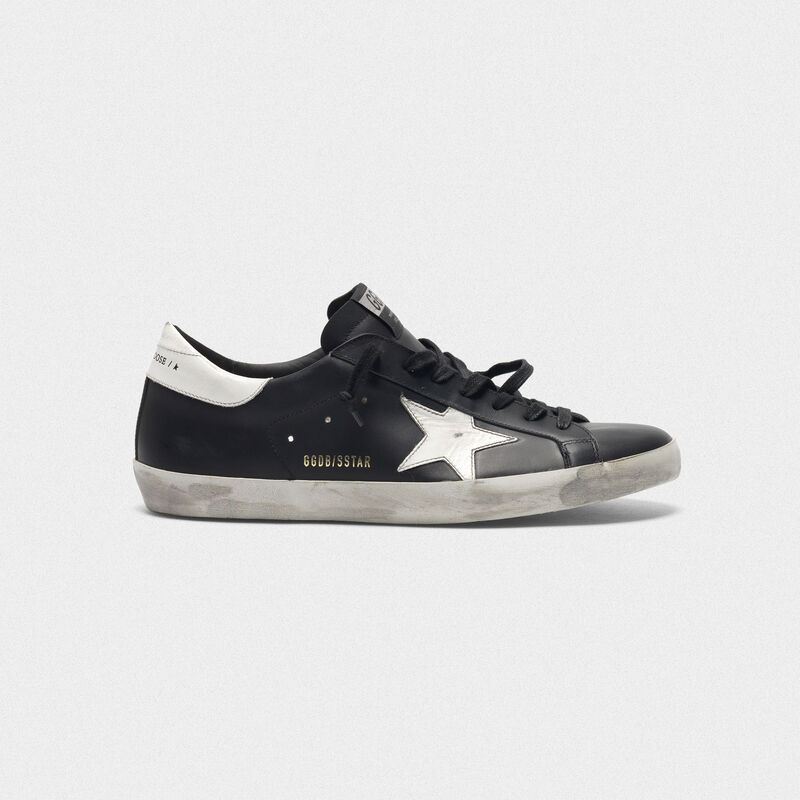 Golden Goose - Sneakers Superstar nere in pelle con stella bianca in  image number null