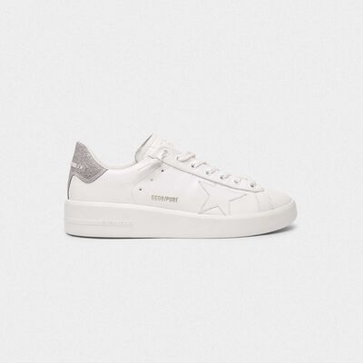 Sneakers PURESTAR talloncino glitter argento