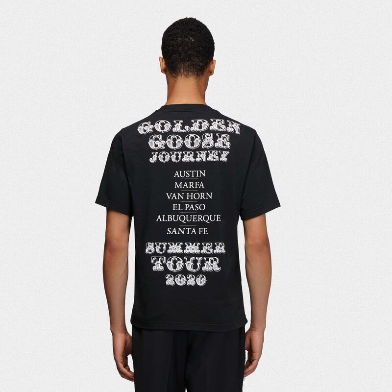 Golden Goose - T-shirt Golden nera con stampa Texas in  image number null