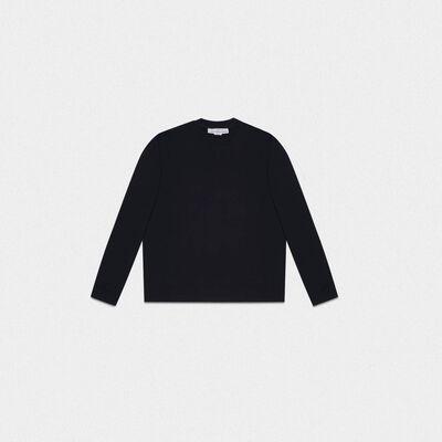 Black Robbie sweatshirt with Love embroidery