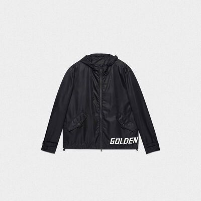 Black Jacob windcheater with logo