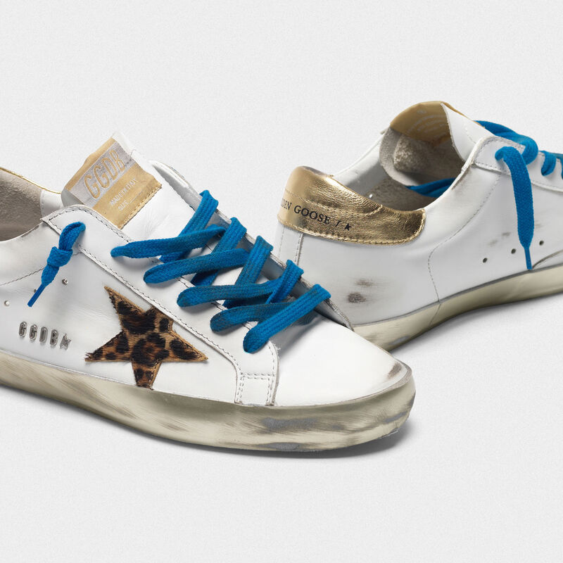 Golden Goose - Sneakers Superstar con foxing laminato e stella leopardata in  image number null