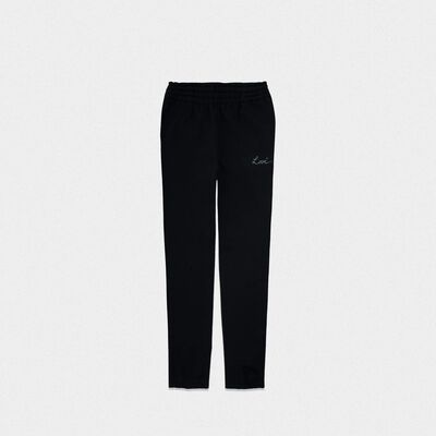 Black Hamm joggers with Love embroidery