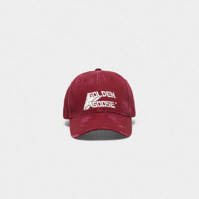 Aki baseball cap with thread embroidery