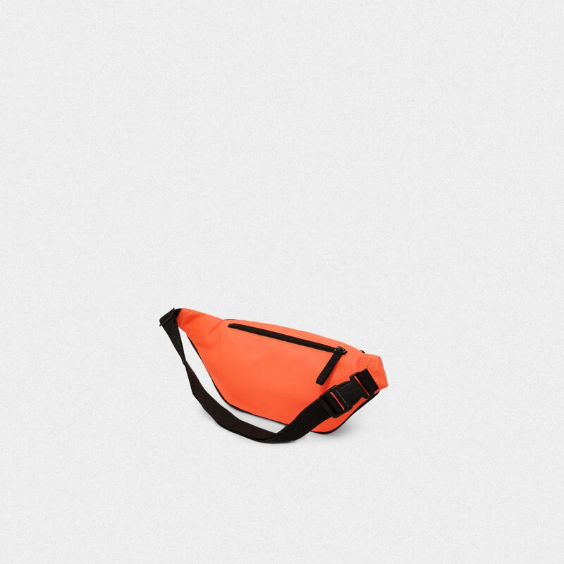 Golden Goose - Fluorescent orange nylon Journey belt bag in  image number null