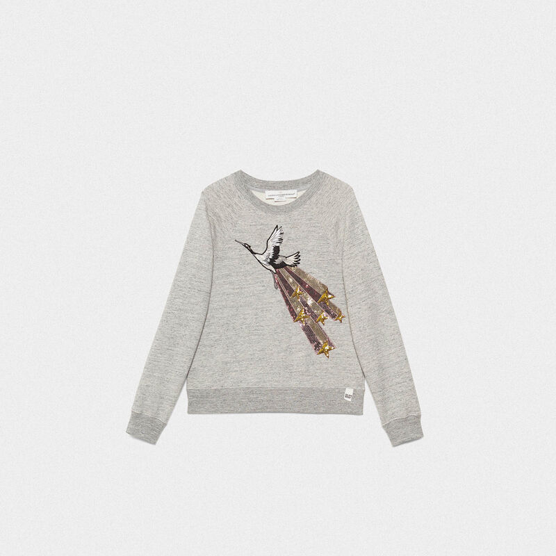 Golden Goose - Haruko sweatshirt in pure cotton with sequin embroidery in  image number null