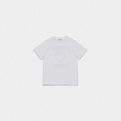 White Golden T-shirt with Sneakers Lovers print