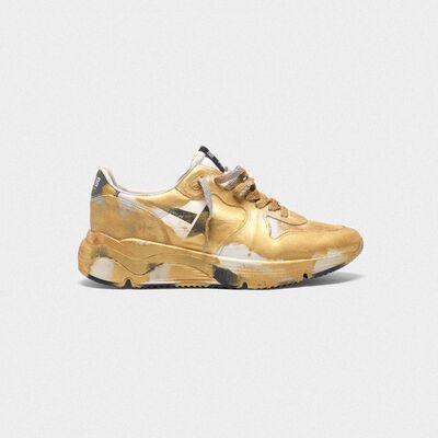 Sneakers Running Sole con verniciature dorate