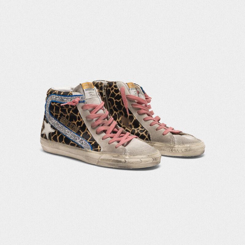 Golden Goose - Sneakers Slide in cavallino stampa animalier in  image number null