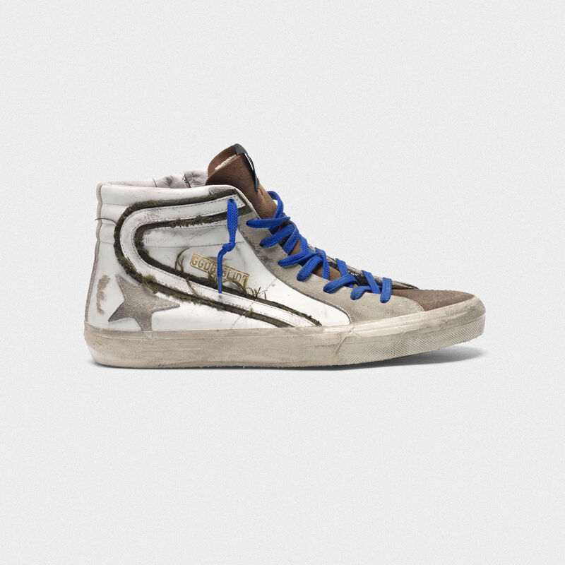 Golden Goose - Sneakers in pelle e suede con inserti in canvas raw edge in  image number null
