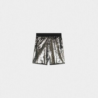 Cameron shorts with silver and black sequins