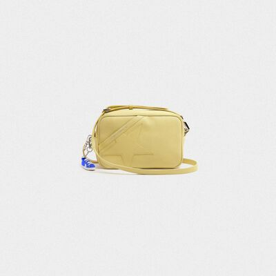 Borsa Star Bag gialla in pelle martellata