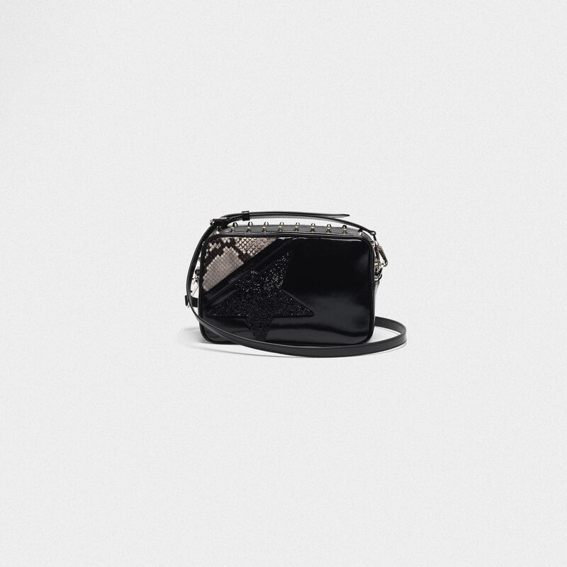 Golden Goose - Borsa Star Bag con borchie cristalli e stampa pitonata in  image number null