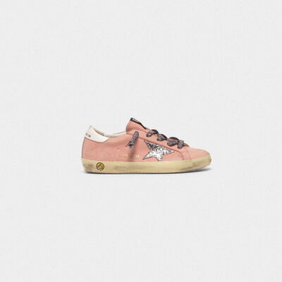 Superstar sneakers in nubuck with glitter star