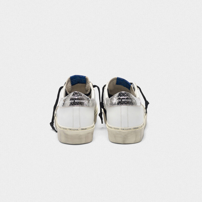 Golden Goose - Sneakers Hi Star con stella in stampa serpente e talloncino argentato in  image number null