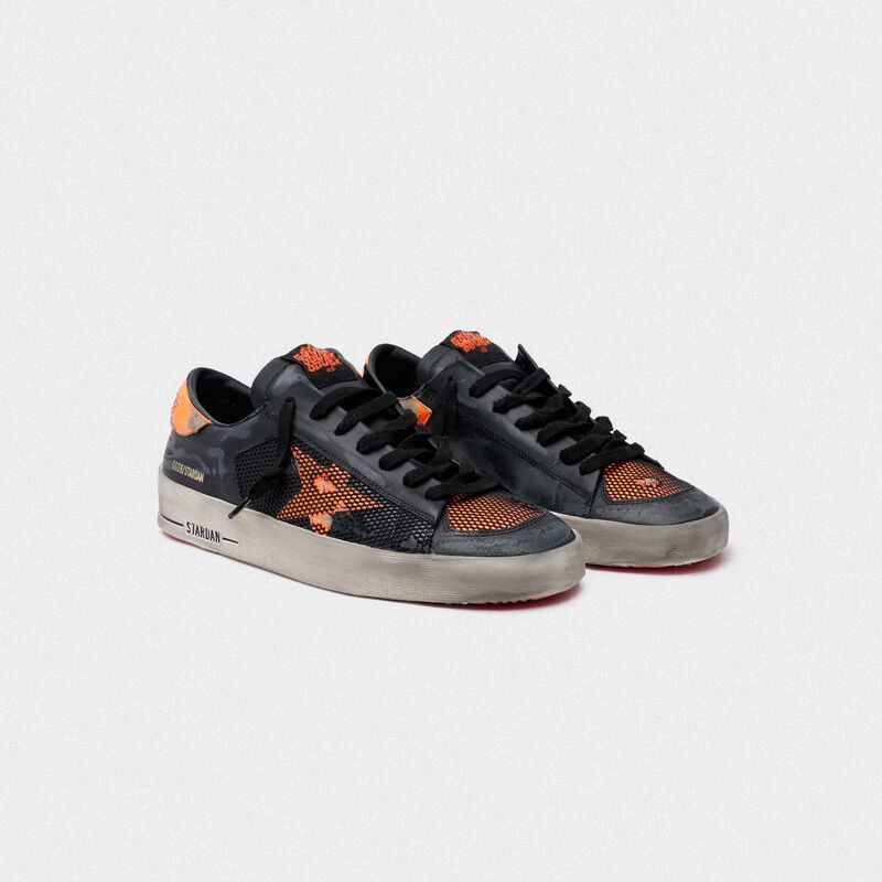 Golden Goose - Black and orange Stardan sneakers in  image number null