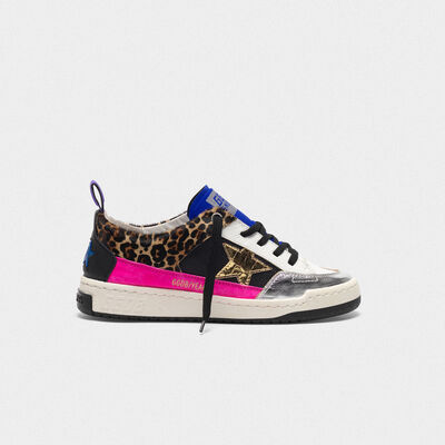 Yeah! sneakers in leopard-print pony skin with a gold star