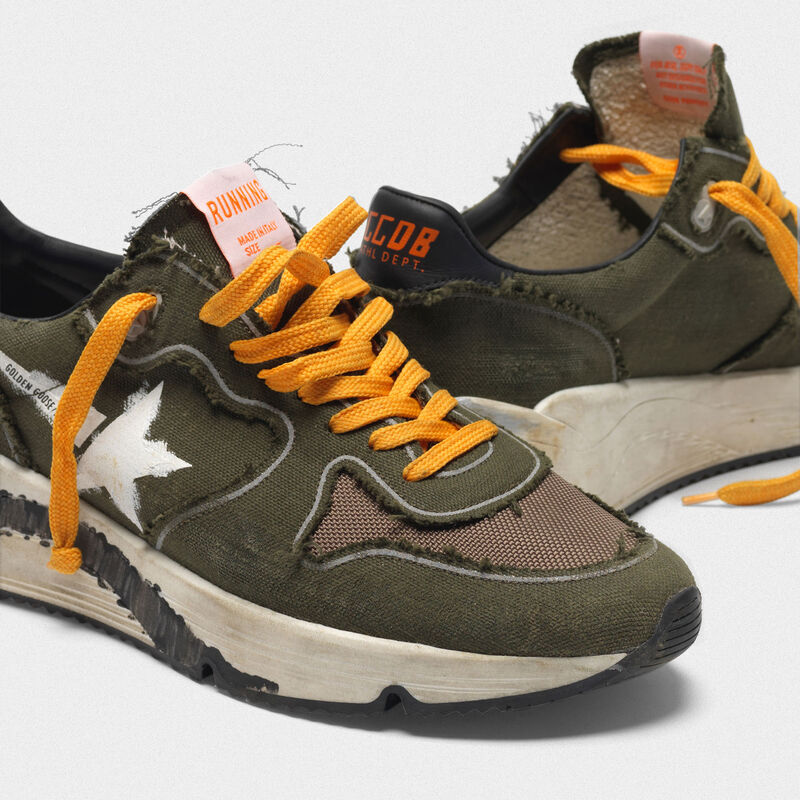 Golden Goose - Running Sole sneakers in canvas with raw edges in  image number null