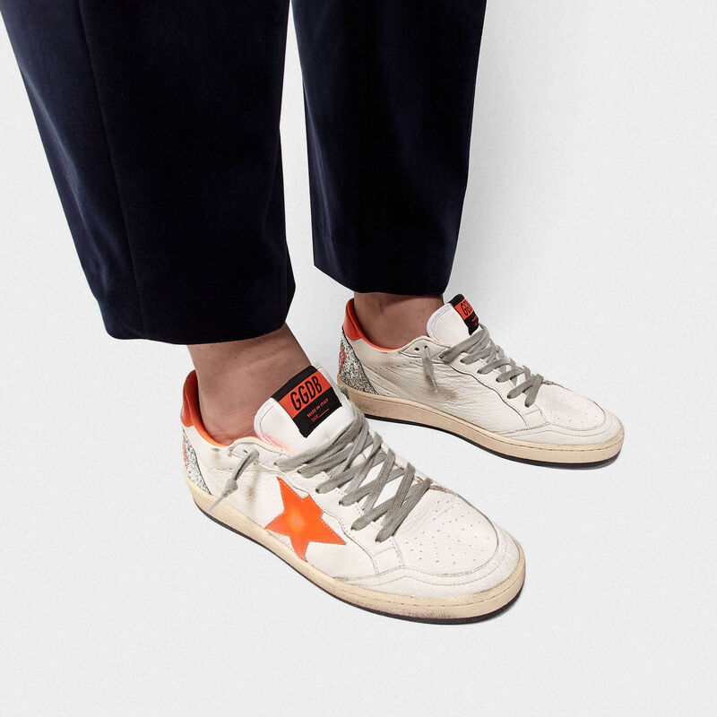 Golden Goose - Sneakers Ball Star con dettagli fluo e retro in glitter in  image number null
