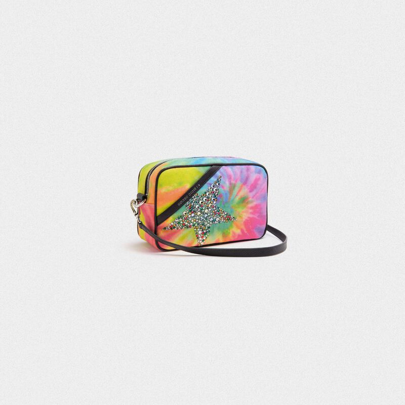 Golden Goose - Tie-dye Star Bag with star and crystals in  image number null