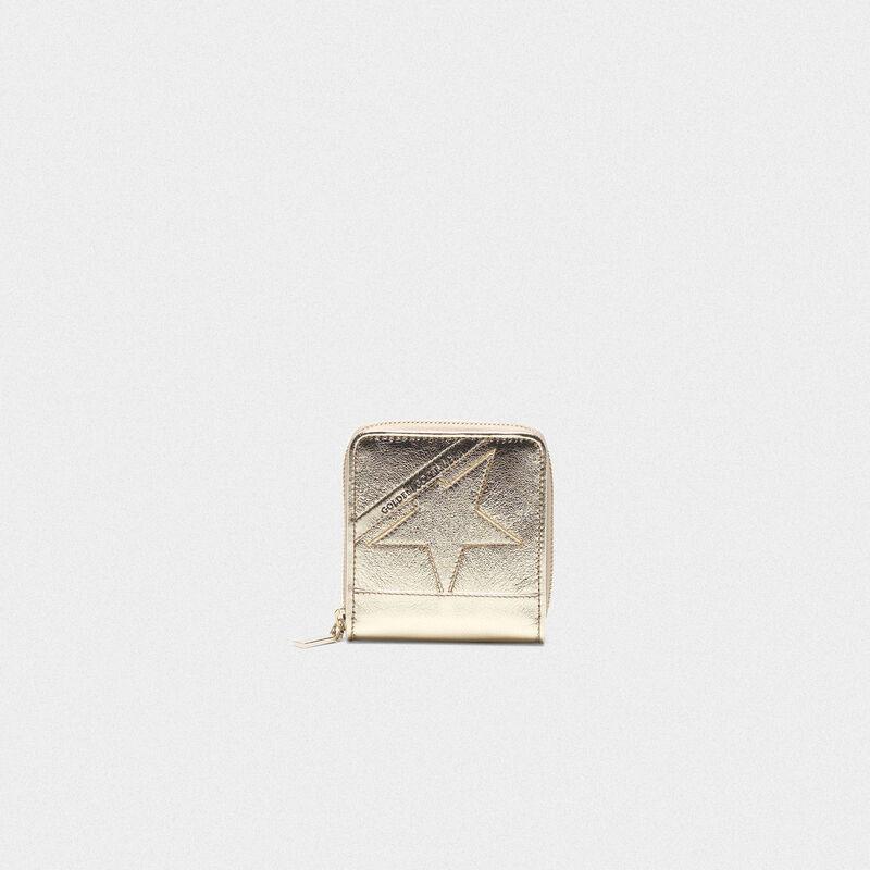 Golden Goose - Medium gold Star Wallet in  image number null